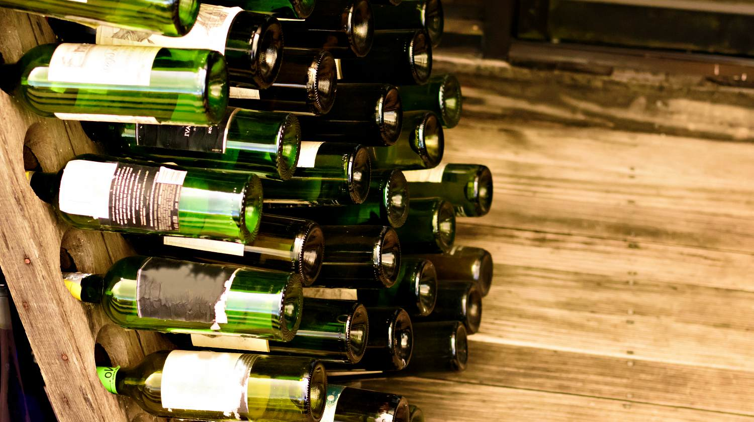 Decorative wine bottle storage