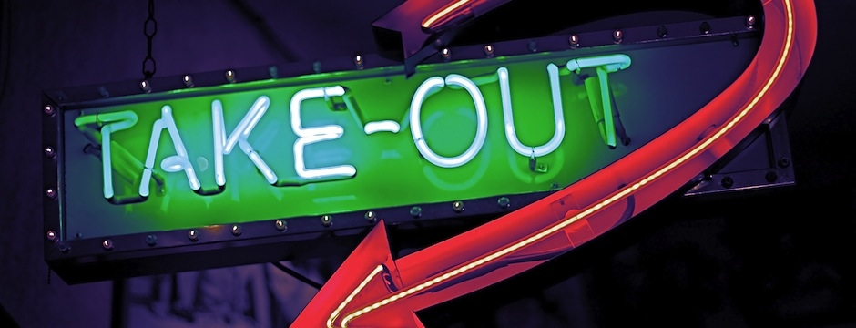 Neon Light Take-Out Sign